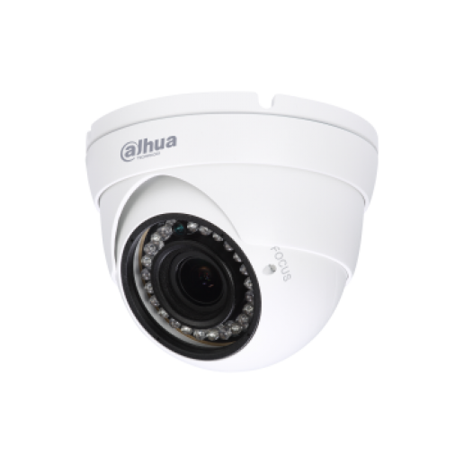 Dahua HD-CVI camera 1MPix, Water-proof, Day&Night, 1/3 CMOS, 1280×720 Effective Pixels, 25/30fps@720P, Focal Length 2.7-12mm, 0.05Lux/F1.4, 0Lux IR on, IP67, outdoor installation.
