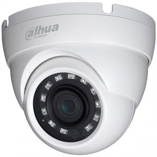 """Dahua HD-CVI camera 2MPix, Water-proof, Day&Night, 1/2.7"""" CMOS, 1920×1080 Effective Pixels, 25fps@1080P, Focal Length 2.8mm, 103° 0.02Lux/F1.85, 0Lux IR on, IP67, outdor instalation."""