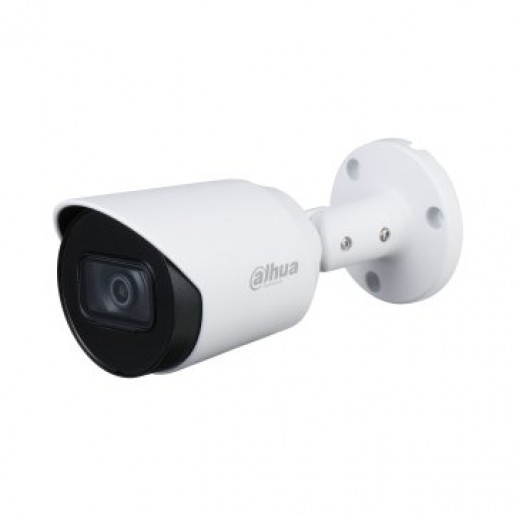 """Dahua HDCVI Bullet camera 2MP, Day&Night, 1/2.7"""" CMOS, 1920×1080 Effective Pixels, 30fps@1080P, Focal Length 2.8 mm(Field of view 119°), 0.02Lux/F1.9, 0Lux IR on, IP67, DC12V/3.3W, outdoor installation."""