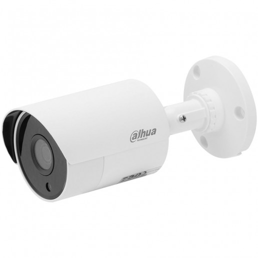 Dahua HDCVI camera 2MP, Bullet, Day&Night, 1/2.7 CMOS, 1920×1080 Effective Pixels, 30fps@1080P, Focal Length 3.6mm, View angle 89.9°, IR distance up to 30m, 0.02Lux/F1.85, 0Lux IR on, Outdoor installation IP 67, 12V DC, max 4.22W, Plastic