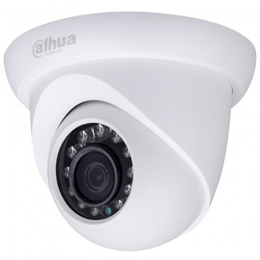 Dahua IP camera 1.3MPix , Water-proof, Day&Night, 1/3 CMOS, 1280x960 Effective Pixels, 25fps@720P, Focal Length 3.6mm, 0.08Lux/F2,1, 0Lux IR on, outdoor installation