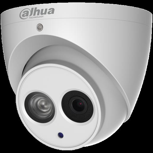 Dahua IP camera 4MP IR Eyeball Water-prof, 1/3 CMOS, 2688× 1520 Effective Pixels, H.265+, 30fps@1520, Focal Length 2.8mm, 104° view angle, Max IR distance 50m, 0.06Lux/F1.6, 0Lux/F1.6 IR on, DC12V, PoE, 5.5W, IP67.