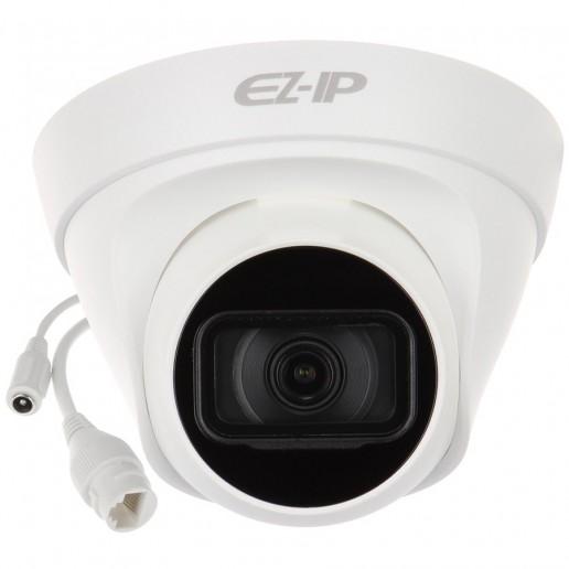 Dahua IP camera 4MP, mini-bullet Water-prof, 1/3 CMOS, 2560×1440 Effective Pixels, H.265+, 20fps@1440, Focal Length 2.8mm, 101° view angle, Max IR distance 30m, 0.09Lux/F2.0, 0Lux/F2.0 IR on, DC12V, PoE, 4.8W, IP67.