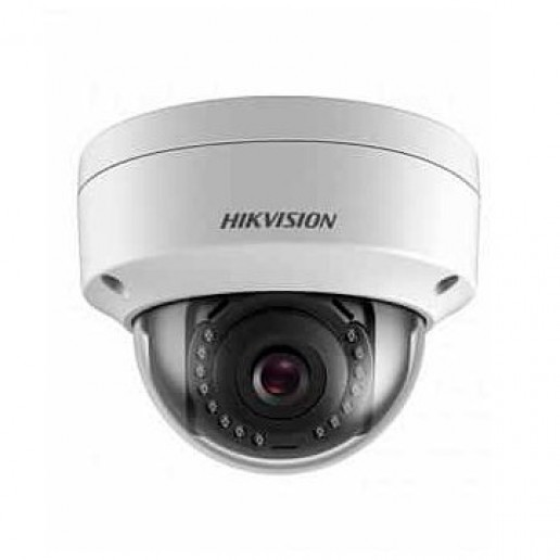 Hikvision 2 MP IP Fixed Dome camera Water-prof, 1/2.8 CMOS, 1920?1080 Effective Pixels, H.265+, 25fps@1080P, Focal Length 2.8mm (115° view angle), Max IR 30m, 0.028Lux/F2.0 IR on, micro SD card up to 128GB, DC12V, PoE 5W, IP67.