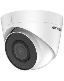 """Hikvision 2MP IP Turret camera, H265+ 1/2.8"""" progressive CMOS, 1920x1080 Effective Pixels, 25fps@1080P, Focal Length 4mm (86° view angle), 0.028Lux@(F2.0,AGC ON),0 Lux with IR on, Max IR LEDs length 30m, IP67, DC12V, PoE, 7W, Outdoor installation."""