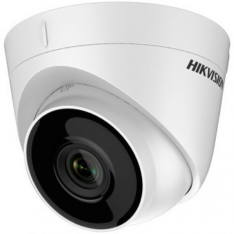 """Hikvision 3MP IP Turret camera, H264+ 1/3"""" progressive CMOS, 2304x1296 Effective Pixels, 20fps@1296P, Focal Length 2.8mm (105.8° view angle), 0.01Lux@(F1.2,AGC ON),0 Lux with IR on, Max IR LEDs length 30m, IP67, DC12V, PoE, 6W, Outdoor installation."""