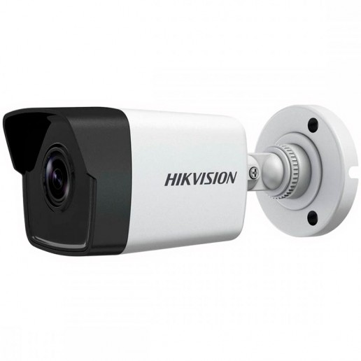 Hikvision 4MP IP Bullet camera, H265+ 1/3 progressive CMOS, 2560x1440 Effective Pixels, 20fps@1440P, Focal Length 2.8mm (100° view angle), 0.01Lux@(F1.2,AGC ON),0 Lux with IR on, Max IR Range up to 40m, IP67, DC12V, PoE 7W, Outdoor installation.