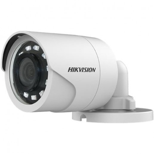 Hikvision HD-TVI 1080P EXIR Bullet camera, 2MP progressive Scan CMOS, 1920x1080 Effective pixels, 25fps@1080p, 3.6 mm lens (Field of view 79.6°), up to 25m IR distance, 0.01 Lux@F1.2 (0 Lux IR on), IP67 weatherproof, 12V DC/3W