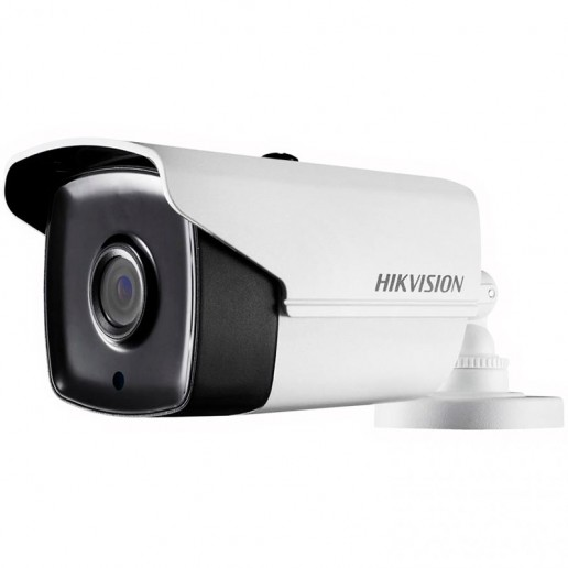 Hikvision HD-TVI 1080P EXIR Bullet camera, 2MP progressive Scan CMOS, 1920x1080 Effective pixels, 25fps@1080p, 3.6 mm lens (Field of view 82.2°), up to 80m IR distance, 0.01 Lux@F1.2 (0 Lux IR on), IP66 weatherproof, 12V DC/6W