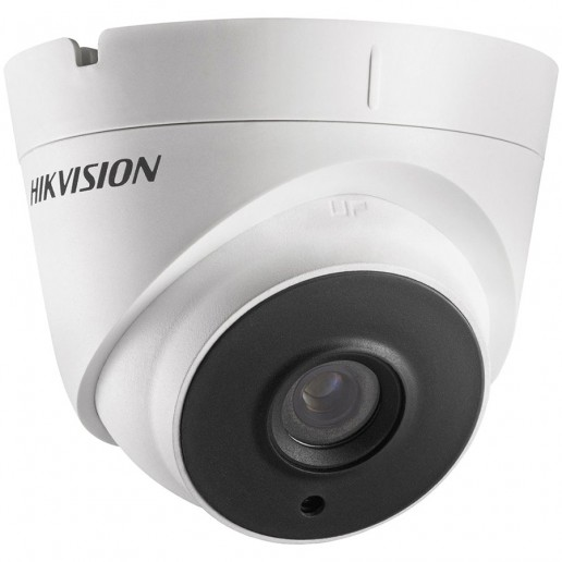 Hikvision HD-TVI 1080P IR Turret camera, 2MP progressive Scan CMOS, 1920x1080 Effective pixels, 25fps@1080p, 3.6 mm lens (Field of view 82.2°), EXIR tech. up to 40m IR distance, 0.01 Lux@F1.2 (0 Lux IR on), IP66 weatherproof, 12V DC/4W.