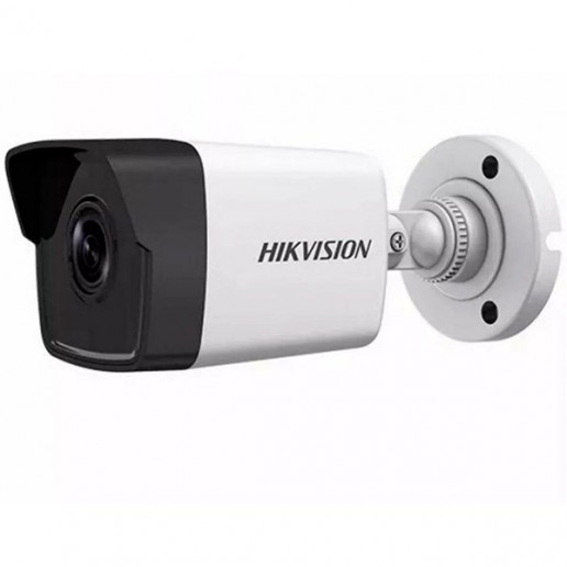 Hikvision IP camera 1MP, Bullet, H.264, 1/4 CMOS, 1280?720 Effective Pixels, 25fps@720P, Focal Length 4mm (70° view angle), Max IR LEDs length 30m, 0.01Lux/F1.2, 0Lux IR on, IP67, DC12V, PoE, 4/5W, Outdoor installation.