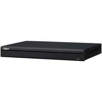 Dahua 16-channel NVR up to 8MP (3840х2160), H.265+, max. bandwidth 200Mbs, 1xVGA, 1xHDMI, 2xSATA (up to 6TB each), USB 3.0, USB 2.0, Audio - Two-way talk, Alarm in - 4ch., Alarm out 2 ch., DC12V/4A, Without HDD