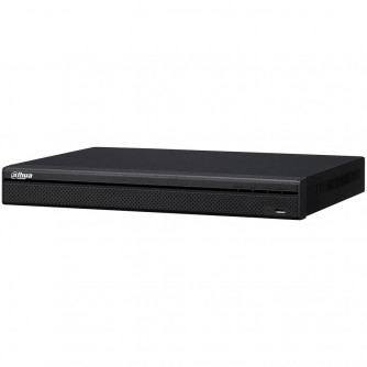 Dahua 32-channel NVR, Resolution 3840x2160, H.265, MJPEG/ MPEG4, max incom. bandwidth 320 Mbps, 2xSATA (12 TB), 2xUSB, 1xVGA, 1xHDMI, 1xAudio support, PTZ, Web server, DC12V, 4A, <10W, Without HDD