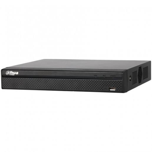 Dahua 8-channel NVR, Up to 6Mp, H.264+/H.264, Max 80Mbps incoming bandwidth, 1xVGA, 1xHDMI, 1xSATA, 2xUSB 2.0, 1xAudio, support , CMS/Web viewer, DC12V/2A, 2.4W, Without HDD.