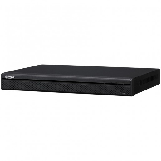 Dahua 8-channel NVR up to 8MP (3840х2160), H.265+, max. bandwidth 200Mbs, 1xVGA, 1xHDMI, 2xSATA (up to 6TB each), USB 3.0, USB 2.0, Audio - Two-way talk, Alarm in - 4ch., Alarm out 2 ch., DC12V/4A, Without HDD