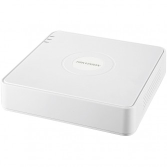Hikvision 4-channel NVR,H.265+/H.265, up to 4MP resolution, 1xSATA up to 6TB, 1xRG-45 (10/100Mbps), 2xUSB 2.0, 1xVGA, 1xHDMI, 1xAudio, DC12V/ 18W, Without HDD.