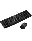 CANYON USB standard KB, water resistant BG layout bundle with optical 3D wired mice 1000DPI black