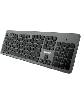Multimedia  bluetooth 5.1 keyboard  MAC Version,104 keys, slim design with low profile silent keys,US layout ,Size 439.4*135.3mm* 23.2mm,526g