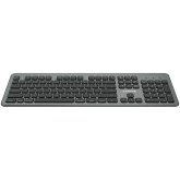 Multimedia  bluetooth 5.1 keyboard  MAC Version,104 keys, slim design with low profile silent keys,US layout ,Size 439.4*135.3mm* 23.2mm,526g