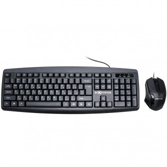 RoXpower Keyboard T13 wired combo-set, Compatibility: Windows 7/8+/10; MAC,USB 2.0,Keyboard:EN/BG (BDS),104 key Long life cycle - 10,000,000 clicks,Quiet keys, comfortable feeling,Mouse:Ergonomic left and right hand, 1 200 DPI