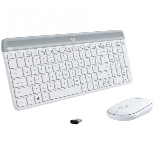 Slim Wireless Keyboard and Mouse Combo MK470-OFFWHITE-US INTL-2.4GHZ-INTNL