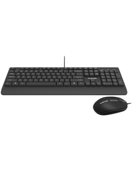 USB wired combo set,Wired Chocolate Standard Keyboard ,105 keys,BG layout, slim  design with chocolate key caps,optical 3D wired mice 100DPI black , 1.5 Meters cable length