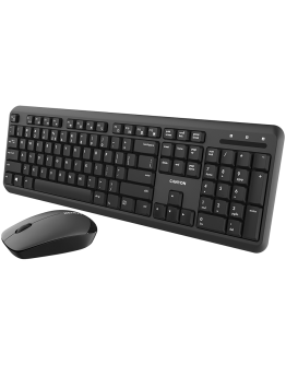 Wireless combo set,Wireless keyboard with Silent switches,105 keys,BG layout,optical 3D Wireless mice 100DPI black