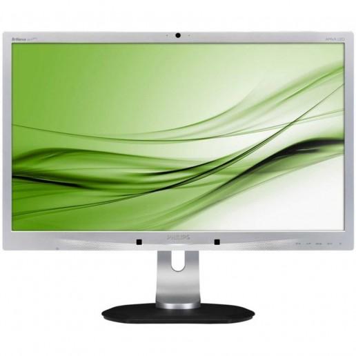 24 A-MVA LED 1920x1080 FullHD 16:9 6ms 250cd/m220 000 000:1, 178/178, DVI, DisplayPort, 3 x USB, 2.0MPwebcam + microphone, Speakers, Super ErgoBase, TCO5.2, Silver