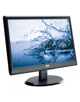 AOC 18.5''(47cm) Monitor LED E950SWDAK (18.5'', 16:9, 1366x768, LED, 250 cd/m2, 20.000.000 : 1, 5 ms, 178/170°, VGA, DVI-D, Speakers, Black, Warranty 3y)