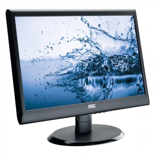 AOC 18.5(47cm) Monitor LED E950SWDAK (18.5, 16:9, 1366x768, LED, 250 cd/m2, 20.000.000 : 1, 5 ms, 178/170°, VGA, DVI-D, Speakers, Black, Warranty 3y)