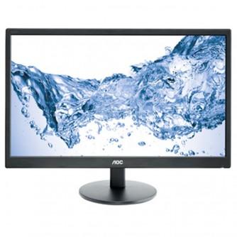 AOC 23.6''(59,9cm) Monitor LED E2470SWHE (23.6'', 16:9, 1920x1080, LED, 250 cd/m2, 20.000.000 : 1, 5 ms, 170/160°, VGA, 2x HDMI, Black, Warranty 3y)