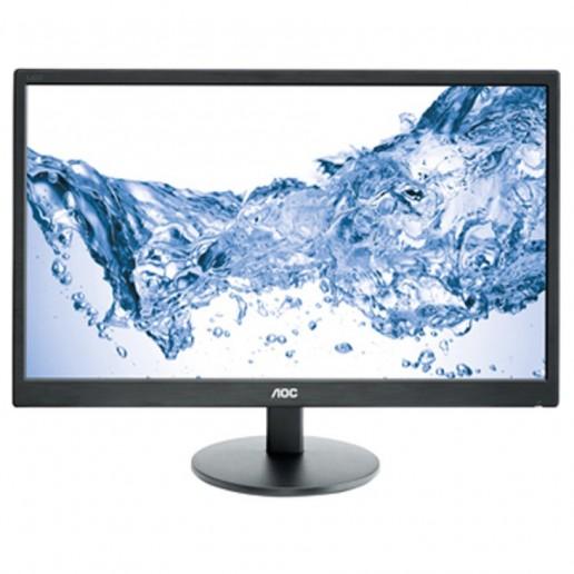AOC 23.6(59,9cm) Monitor LED E2470SWHE (23.6, 16:9, 1920x1080, LED, 250 cd/m2, 20.000.000 : 1, 5 ms, 170/160°, VGA, 2x HDMI, Black, Warranty 3y)