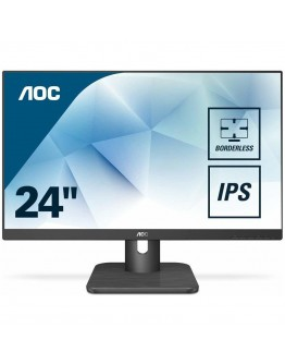 "AOC Monitor LED 24E1Q IPS  (23.8"", 16:9, 1920x1080, IPS, 250 cd/m², 1000:1, 20M:1, 5 ms, 178/178°, VGA, DP, HDMI, Speakers, Tilt: -3.5/+21.5°, VESA, Certified green, Borderless) Black, 3y"