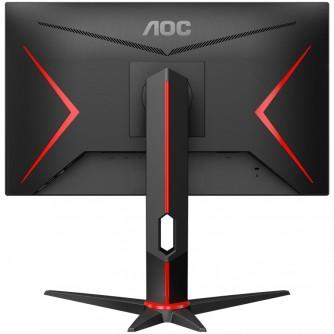 "AOC Monitor LED 24G2U IPS Gaming (23.8"", 16:9, 1920x1080, IPS, 144Hz, 250 cd/m², 1000:1, 20M:1, 1 ms, 178/178°, VGA, 2xHDMI, DP, 4 x USB 3.0, Speakers, Tilt, Swivel, H. Adjust, VESA, Frameless) Black-Red, 3y"