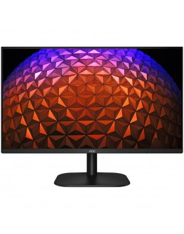 AOC Monitor LED 27B2H 75Hz (27'', 16:9, 1920x1080 at 75Hz, IPS, 250cd/m², 1000:1, 20M:1, 7 ms, Borderless 178/178°, VGA, HDMI, Tilt: -5/+15°, Vesa) Black, 3y