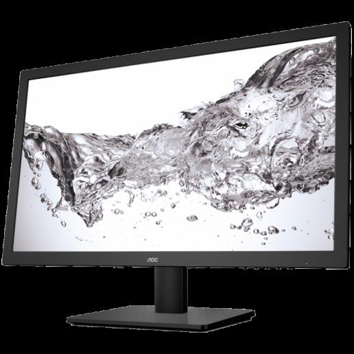 AOC Monitor LED E2475SWJ (23.6, 16:9, 1920x1080, TFT-LCD, 250 cd/m², 20M:1, 2 ms, 170/160°, VGA, DVI-D, HDMI, 2W speakers, Tilt: -5 to +23.5°) Black, 3y