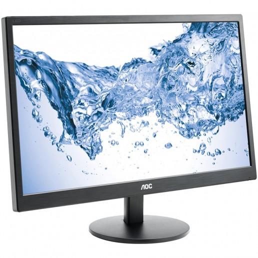 AOC Monitor LED M2470SWH (23.6, 16:9, 1920x1080, MVA, 250 cd/m2, 50M:1, 5 ms, 178/178°, VGA, 2x HDMI, Speakers, Tilt: -5 to +25°) Black, 3y