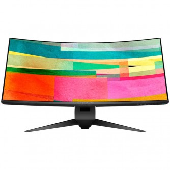 """Alienware 34 Curved Gaming Monitor AW3418DW, NVIDIA G-SYNC, 34"""" WQHD 3440 x 1440 IPS 21:9, 4 ms (gray-to-gray), 300 cd/m², 1000:1, 16.7 million colors, 178/178, HDMI, DisplayPort, USB 3.0 hub, Tilt, Swivel, Height-Adgustment, 3Y NBD"""
