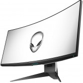Alienware 34 Curved Gaming Monitor AW3418DW, NVIDIA G-SYNC, 34 WQHD 3440 x 1440 IPS 21:9, 4 ms (gray-to-gray), 300 cd/m², 1000:1, 16.7 million colors, 178/178, HDMI, DisplayPort, USB 3.0 hub, Tilt, Swivel, Height-Adgustment, 3Y NBD