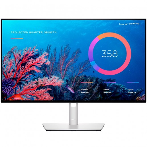DELL UltraSharp Monitor U2422HE USB-C RJ-45, 23.8'' (16:9), IPS LED backlit, AG, 3H coating, 1920x1080, 1000:1, 250 cd/m2, 5 ms, 178°/178°, HDMI, DP, DP-out, USB-C, USB 3.2 Hub, RJ-45, height, pivot, tilt ,swivel, VESA (100 mm), 3y