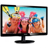 Monitor LCD PHILIPS 196V4LSB2/00 (18.5, 1366x768, LED Backlight, 600:1, 10000000:1(DCR), 170/160, 5ms, DVI/VGA) Black