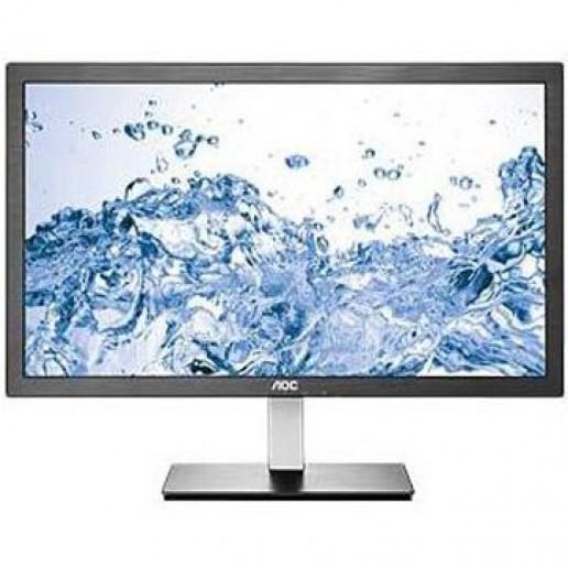 Monitor LED AOC I2476VW (23.6, 1920x1080, IPS, 250cd/m2, LED Backlight, 1000:1, 50000000:1(DCR), 178/178, 6ms, VGA/DVI, VESA) Black