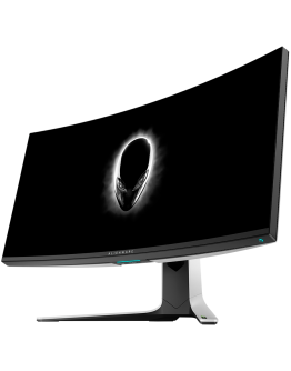 "Monitor LED Alienware AW3821DW 37.5"" Curved, Fast IPS, AG, 3840 x 1600 144 Hz, NVIDIA G-Sync Ultimate, 21:9, 450 cd/m², 1000:1, 1ms (g to g), 1.07b colours, tilt: -5° to 21°, Swivel: -20° to 20°, Height: 130mm, 178/178, 3Y Warr"