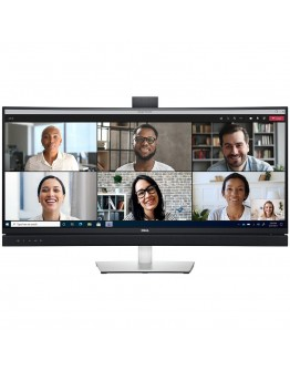 """Monitor LED DELL Curved, Video Conferencing C3422WE, 34.14"""", WQHD 3440x1440, 21:9, IPS, 1000:1, 178/178, 5ms, 300cd/m2, DP, HDMI, RJ-45, USB-C, Built-in speakers and webcam, 3Y Warr"""
