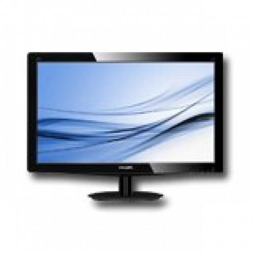 Monitor LED PHILIPS 196V3LSB (18.5, 1366x768, 1000:1, 10000000:1(DCR), 170/160, 5ms, VGA/DVI) Black