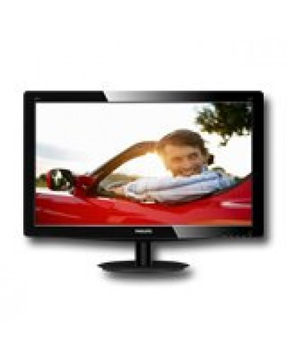 Monitor LED PHILIPS 196V3LSB25/00 (18.5, 1366x768, 600:1, 10000000:1(DCR), 170/160, 5ms, DVI/VGA) Black