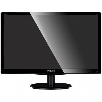 Monitor LED PHILIPS 200V4LAB (19.5'', 1600x900, HDCP Ready, W-LED Backlight, 10000000:1(DCR), 170/160, 5ms, VGA/DVI/Audio) Black