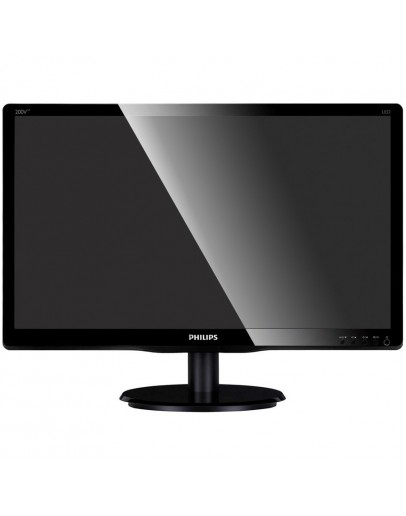 Monitor LED PHILIPS 200V4LAB (19.5, 1600x900, HDCP Ready, W-LED Backlight, 10000000:1(DCR), 170/160, 5ms, VGA/DVI/Audio) Black