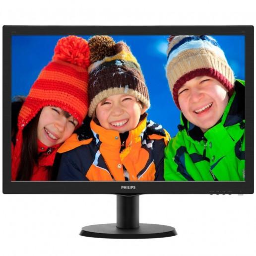 Monitor LED PHILIPS 233V5LHAB/00 (23 / 58.4cm, 1920 x 1080 @ 60Hz, LED Backlight, 1.000:1, 10.000.000:1 (SCR), 170/160, 5ms, VGA, HDMI, Speakers 2.0W x 2, 24 months) Black