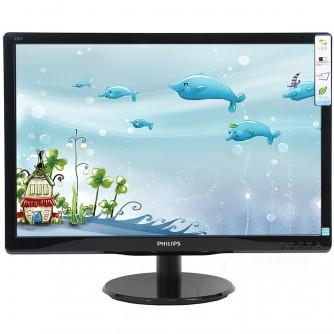 Monitor LED Philips 193V5LSB2/10, V-line, 18.5'' 1366x768@60Hz, 16:9, TN, 5ms, 200nits, Black, 3 Years, VESA100x100/VGA/